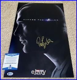 Paul Bettany Signed 12x18 Photo Poster Avengers Vision Star Wars Jarvis Bas