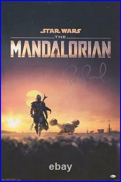 Pedro Pascal Star Wars The Mandalorian Autographed 22 x 34 D23 Movie Poster