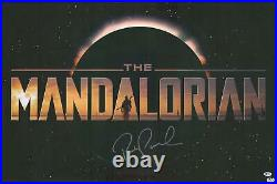 Pedro Pascal Star Wars The Mandalorian Autographed 22 x 34 Title Movie Poster