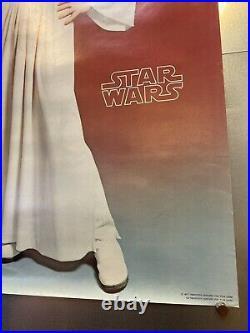 RARE Factors Star Wars Princess Leia Poster 1977 20 x 28 Vintage Nice Piece