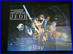 RETURN OF THE JEDI (1983) Original UK Quad Cinema Poster STAR WARS