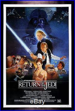 RETURN OF THE JEDI CineMasterpieces 1983 ORIGINAL MOVIE POSTER STAR WARS