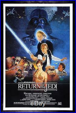 RETURN OF THE JEDI CineMasterpieces 1983 ORIGINAL MOVIE POSTER STAR WARS C8-C9