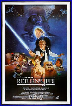 RETURN OF THE JEDI CineMasterpieces 40x60 MOVIE POSTER HUGE STAR WARS 1983