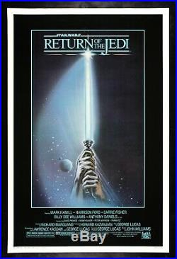RETURN OF THE JEDI CineMasterpieces ORIGINAL MOVIE POSTER STAR WARS LIGHTSABER
