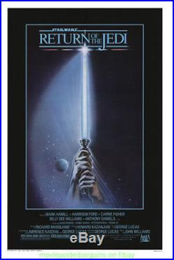 RETURN OF THE JEDI MOVIE POSTER ORIGINAL 27x41 Rolled Style A STAR WARS FILM
