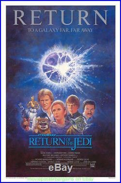 RETURN OF THE JEDI MOVIE POSTER R1985 STAR WARS Mint 27x41 Rolled One Sheet