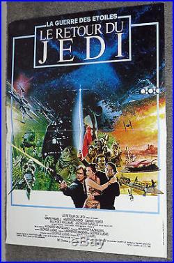 RETURN OF THE JEDI original 1983 RARE movie poster HARRISON FORD/MARK HAMILL
