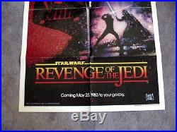 REVENGE OF THE JEDI 1983 STAR WARS Original 27 x 41 One Sheet Movie Poster