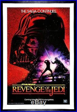 REVENGE OF THE JEDI CineMasterpieces 1983 STAR WARS ORIGINAL MOVIE POSTER