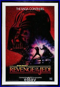 REVENGE OF THE JEDI CineMasterpieces STAR WARS ORIGINAL MOVIE POSTER 1983