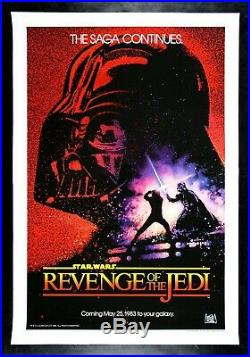 REVENGE OF THE JEDI CineMasterpieces STAR WARS ORIGINAL MOVIE POSTER 1983 NM-M