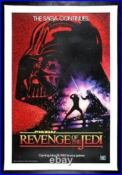 REVENGE OF THE JEDI CineMasterpieces STAR WARS ROLLED NM-M MOVIE POSTER 1983