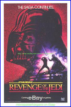 REVENGE OF THE JEDI aka RETURN OF THE JEDI Movie Poster 27x41 Advance STAR WARS