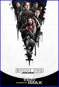 ROGUE ONE A STAR WARS STORY 2016 IMAX Vers 2 Sided 4x6' Bus Shelter Movie Poster