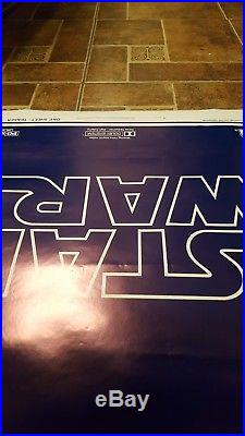 ROLLED! 1977 STAR WARS ORIGINAL Style B Teaser 1Sheet Movie Poster NSS 77/21-0