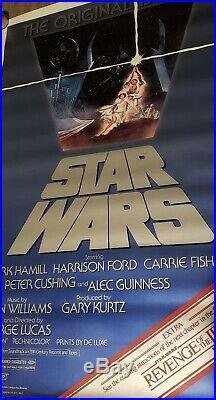 ROLLED! STAR WARS 1982 Original Movie Poster 27x41 Revenge of The Jedi Banner