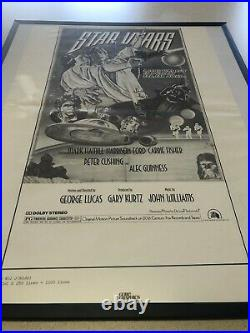 Rare Lot 6 x 1978 STAR WARS Movie Ad Press Book Posters Gore Graphics with Frames