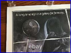 Rare STAR WARS 1977 Style A Original US Movie Poster One Sheet 27x41 Linen Back