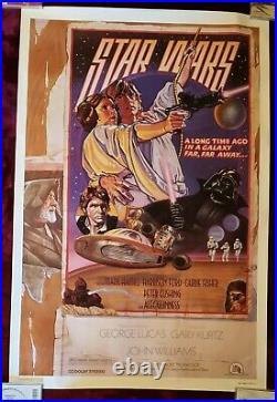 Rare-STAR WARS 1978 Circus Style D Poster (1992 Killian Reprint NOT FAN CLUB)