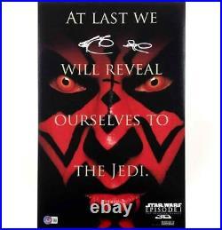 Ray Park Darth Maul signed Star Wars 11x17 movie poster photo BAS COA Beckett