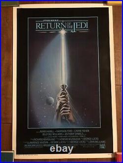 Return Of The Jedi Original 1983 Rolled 1- sheet Movie Poster- Star Wars