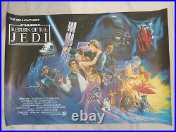 Return Of The Jedi Original British Quad Film Poster 1983 Rare Rolled Star Wars