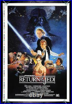 Return Of The Jedi Printers Proof 1983 White Title Star Wars Movie Poster