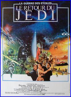 Return Of The Jedi Star Wars Lucas Original Small French Movie Poster