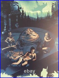 Return of The Jedi Movie Poster Art Star Wars Luke Skywalker Darth Vader mondo