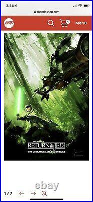 Return of The Jedi Movie Poster Mondo Art Print Star Wars Luke Skywalker Jock