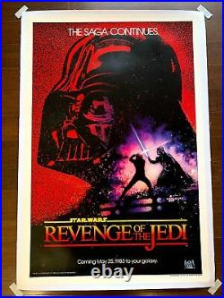 Revenge Of The Jedi Star Wars (1981) US One Sheet Movie Poster LB