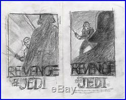 Revenge Return of the Jedi Star Wars Original Tom Jung Concept Movie Poster Art