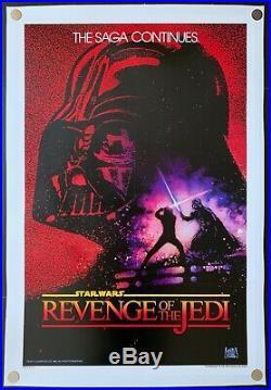 Revenge of the Jedi 1982 Original Movie Poster Linen Backed Undated Style Rare