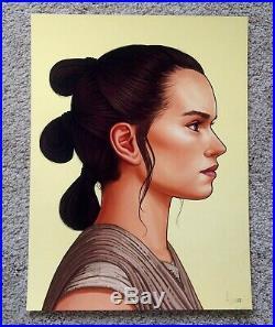 Rey Skywalker Mike Mitchell Star Wars Portrait Art Print Poster Mondo