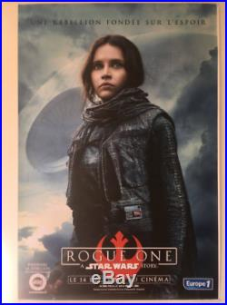 Rogue One A Star Wars Story Movie Poster Jyn Erso 4x6 Giant Bus Shelter