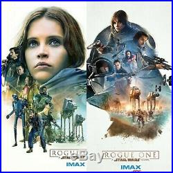 Rogue One Star Wars AMC IMAX EXCLUSIVE FELICITY JONES #1 & #2 Movie Poster 13X19