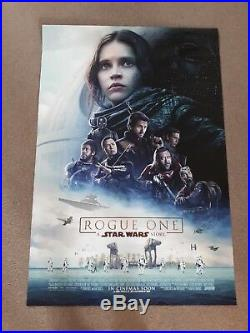 Rogue One Star Wars cinema one sheet Poster full size ORIGINAL DS Felicity Jones