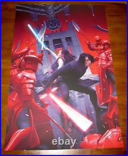 Rory Kurtz TRUE ENEMY (GID Variant) Star Wars The Last Jedi Print Poster Mondo