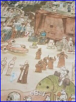 SCOTT C. CAMPBELL Star Wars Far Away Galaxy Limited Edition Print Poster Mondo