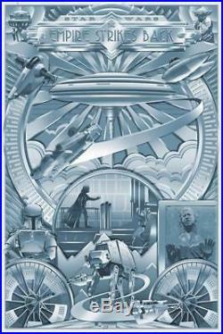 SDCC 2018 Star Wars Darkness Shines Steve Thomas Foil Variant Poster #/95 TESB