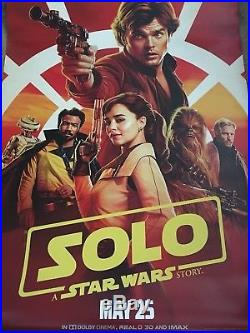 SOLO A STAR WARS STORY 2018 Original DS 2 Sided 4x6' US Bus Shelter Movie Poster
