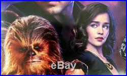 SOLO A STAR WARS STORY MOVIE POSTER 2 Sided ORIGINAL INTL FINAL Version B 27x40