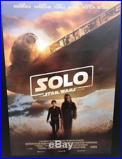 SOLO A STAR WARS STORY Original Movie Poster 27X40 1 Side Italian SCI-FI
