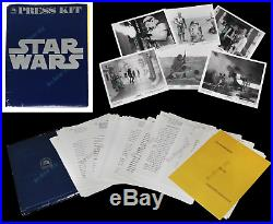 STAR WARS 100% COMPLETE ORIG 1977 20th Century-Fox PRESS KIT Not MOVIE Poster