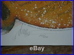 STAR WARS 10th anniv, nr mint signed 1-sht / movie poster (Drew Struzan art)