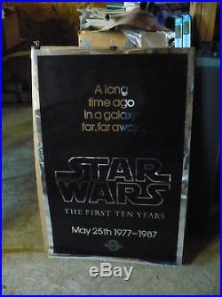 STAR WARS 10th anniv, rolled mylar 1-sht / movie poster (Kilian Prod)