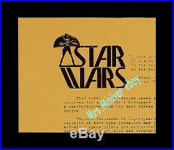 STAR WARS 1976 Pre-Release LUCASFILM COMIC-CON Handout + 3 WINDOW MOVIE POSTERS