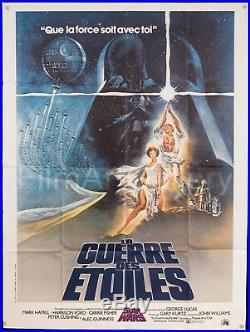 STAR WARS 1977 47x63 original French film poster George Lucas FilmArtGallery