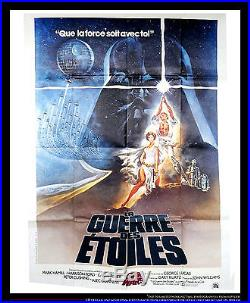 STAR WARS 1977 4x6 ft Vintage French Grande Original Movie Poster